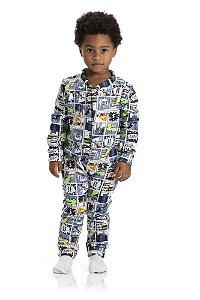Kit 3 Pijamas Macacão Soft Menino 1 a 3
