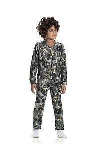 Kit 3 Pijamas Macacão Soft Menino 4 a 8