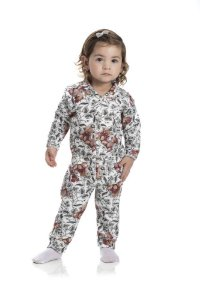 Kit 3 Pijamas Macacão Soft Menina P a G