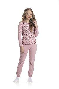 Kit 3 Pijamas Meia Malha Brilha No Escuro 10 a 14