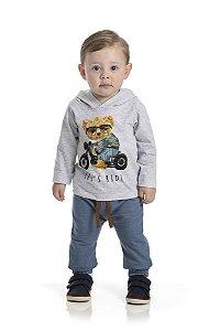 Kit 3 Camisetas Urso com Capuz P a G