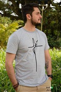 T-shirt Mescla Estampa Fé