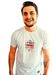 Camiseta Cachorro: Uma Lambida Vale Mais que Mil Palavras