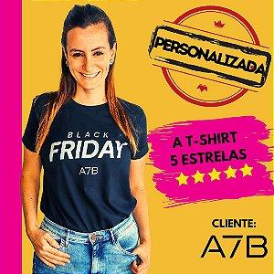 Camiseta Feminina 100% Algodão Fio 30.1 Penteado