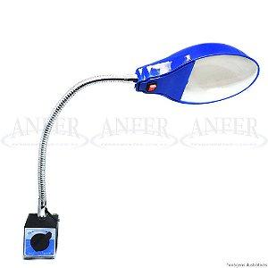 Luminária com Base Magnética e Haste Flexível