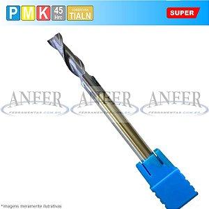 Fresa Metal Duro Topo Reto 45Hrc 2 Cortes Longa 8x25x75mm