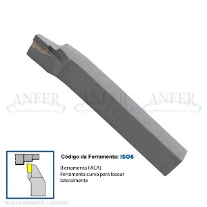 Ferramenta Soldada Curva Faca Tornear ISO 6 2020 DP30