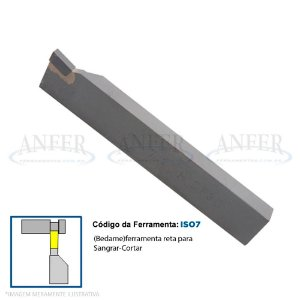 Ferramenta Soldada Bedame Canal ISO 7 2012 DP30 4mm
