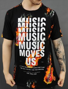 Camiseta Fire Guitar