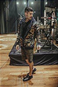 Tricot Cardigan Com Pelo