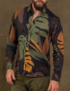 CAMISA ML FOREST ART