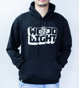 Moletom Wood Light Wavy Logo Black