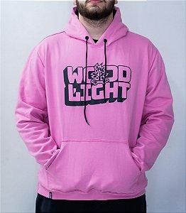 Moletom Wood Light Wavy Logo Pink