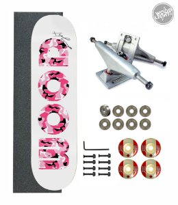 Skate Wood Light Amador Completo Army Pink