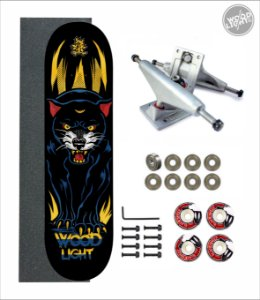 Skate Wood Light Amador Completo Panther