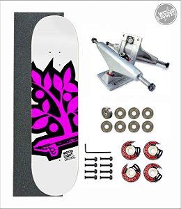 Skate Wood Light Amador Completo Logotipia Pink