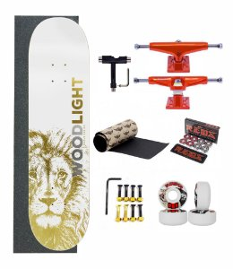 Skate Profissional Wood Light Completo - Lion