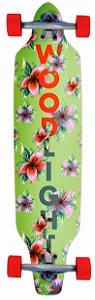 Longboard Assimétrico Montado Green Flower