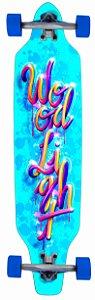 Longboard Assimétrico Montado Splash Colors Blue