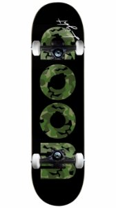 Skate Wood Light Militar Black