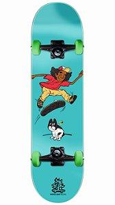 Skate Wood Light Bluedog