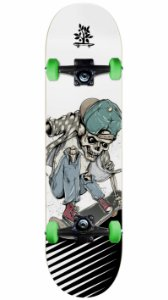 Skate Wood Light Insane Skull