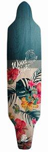 Shape Longboard Assimétrico Floral