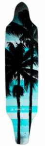 Shape Longboard Assimétrico Blue Palm Trees