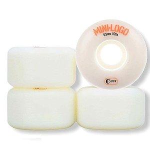 Roda Mini Logo Branca 53mm