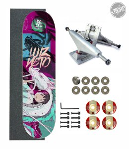 Skate Wood Light Amador Completo 8.0 Pro Model Luiz Neto Dragon