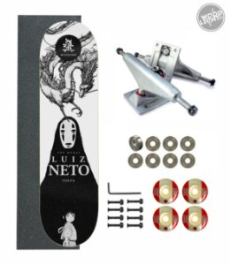 Skate Wood Light Amador Completo 8.0 Pro Model Luiz Neto Chihiro