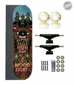 Skate Wood Light Completo 8.0 Urso