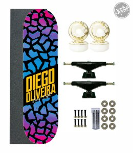 Skate Wood Light Completo 8.0 Diego Oliveira
