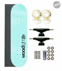 Skate Wood Light Completo 8.0 Basic Azul
