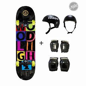 Skate Wood Light + Kit de Proteção - Urban City