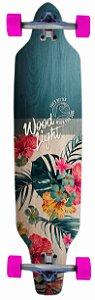 Longboard Assimétrico Montado Floral