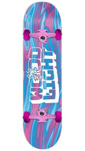 Skate Wood Light Especial Pink Liquid - Blue and Pink Completo