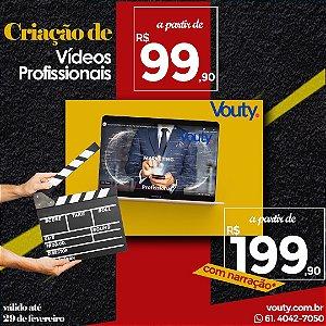 Criação de Vídeos profissionais com narração para Mídias Sociais