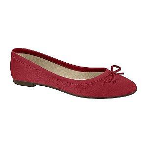 Sapatilha Moleca Camurça Vermelha 5723101