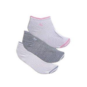 Kit 3 Pares de Meias Lupo Socks Branca / Cinza 04538