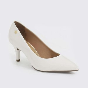 Sapato Scarpin Vizzano Verniz Branco Off 1185702