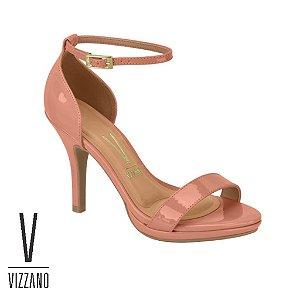 Sandália Vizzano Verniz Salto Fino Ligth Blush 6210655