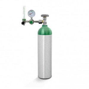 Kit Oxigênio 3 L Cilindro Alumínio - Válvula + Regulador Fluxômetro