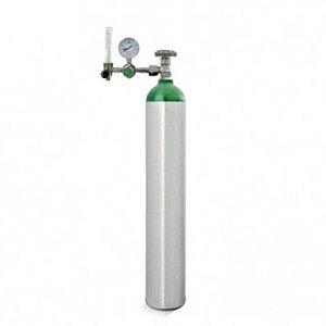 Kit Oxigênio 5 Litros - Cilindro Alumínio + Válvula com Regulador Fluxômetro