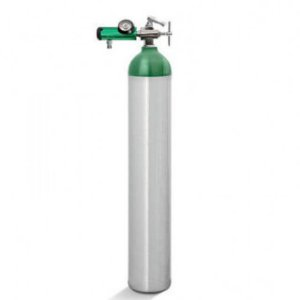 Kit Oxigênio 5 Litros -  Cilindro Alumínio +  Válvula Yoke + Regulador Click Yoke