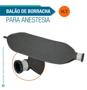 Balão de Borracha 1 Litro para Anestesia