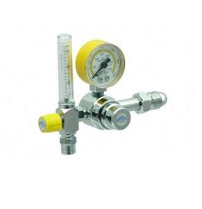 Válvula Reguladora Para Cilindro De Ar Comprimido Com Fluxômetro
