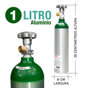 Cilindro Oxigênio Medicinal Alumínio 1L Sem Carga