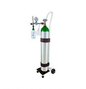 Kit Oxigênio Portátil 5 Litros Alumínio com Carrinho (SEM CARGA)