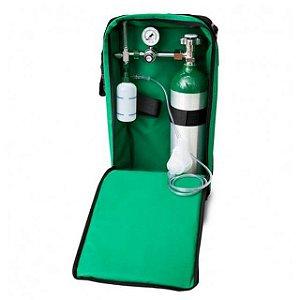 Kit Oxigênio Portátil 3 Litros Bolsa Verde (Sem Carga)